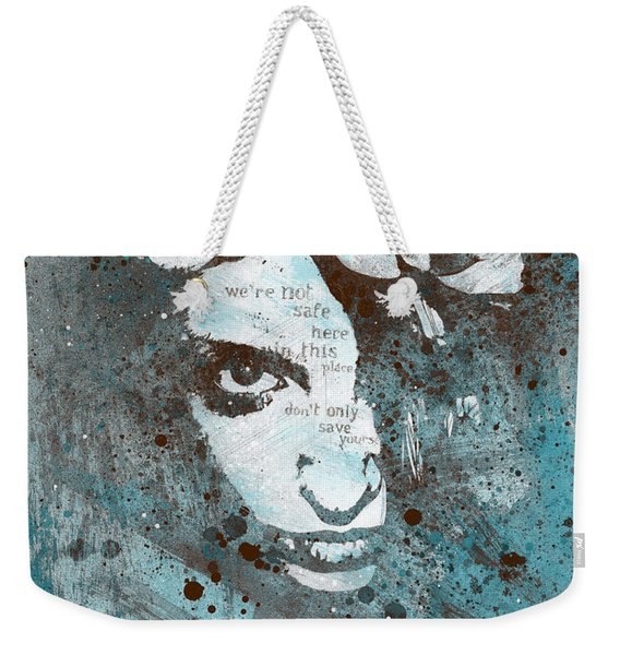 Blue Hypothermia Weekender Tote Bag