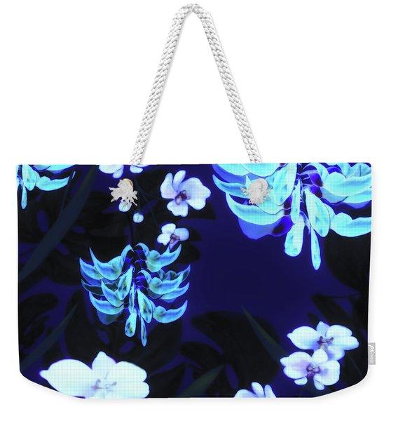 Blue Jungle Floral Weekender Tote Bag
