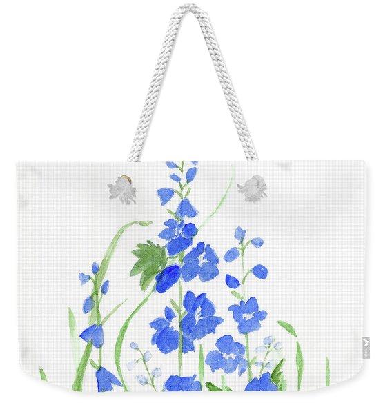 Blue Larkspur  Weekender Tote Bag