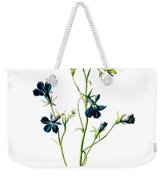 Blue Lobelia Flower Weekender Tote Bag