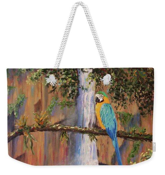 Blue Macaw Weekender Tote Bag