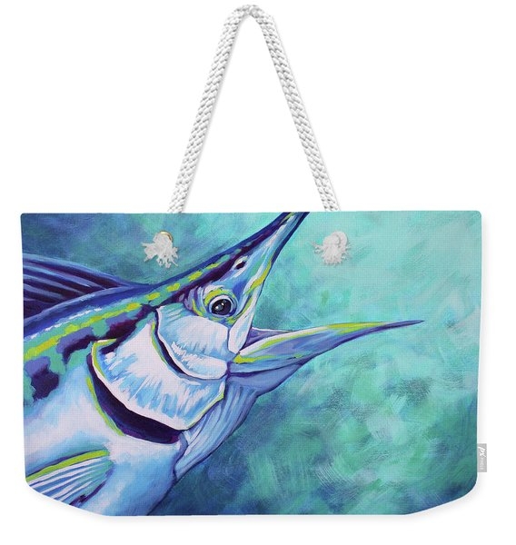 Blue Marlin Weekender Tote Bag