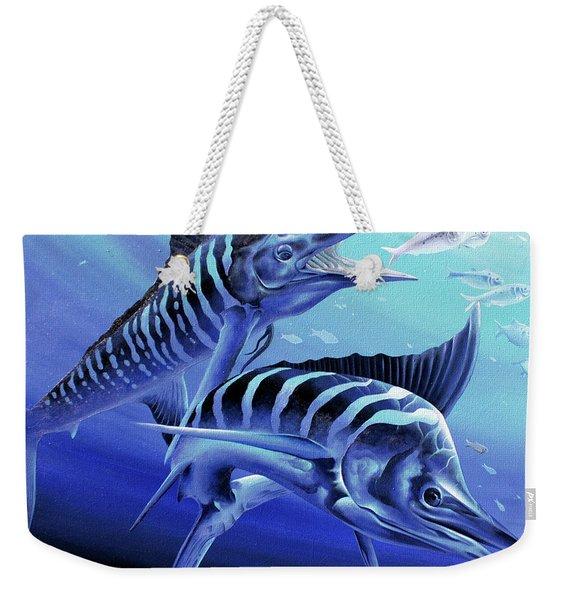 Blue Marlins Weekender Tote Bag