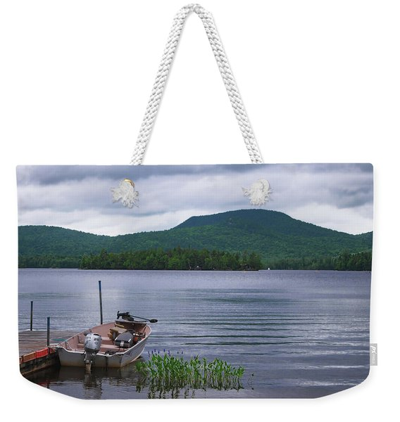 Blue Mountain Lake Weekender Tote Bag