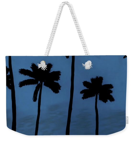 Blue - Night - Beach Weekender Tote Bag