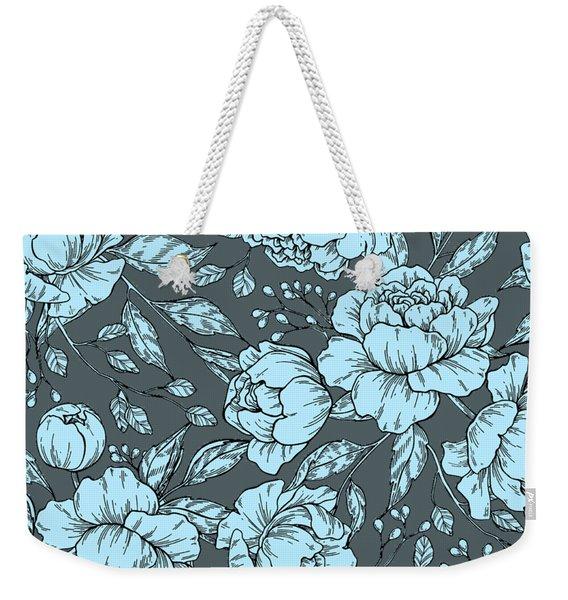 Blue Peonies Weekender Tote Bag