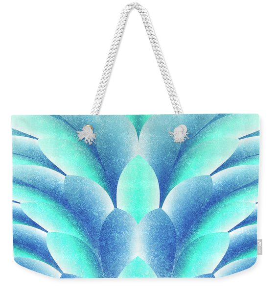 blue Petals Weekender Tote Bag