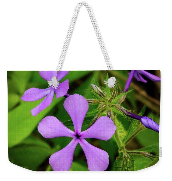 Blue Phlox Weekender Tote Bag