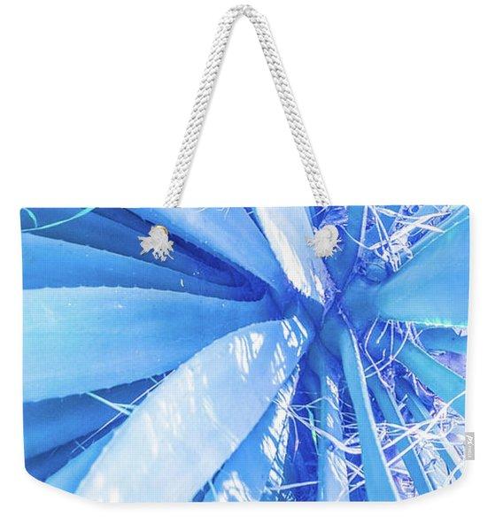 Blue Rays Weekender Tote Bag