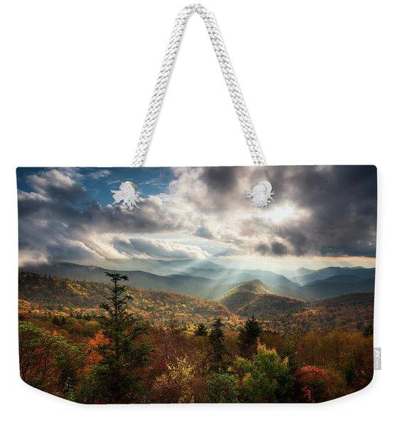Blue Ridge Mountains Asheville Nc Scenic Autumn Landscape Photography Weekender Tote Bag