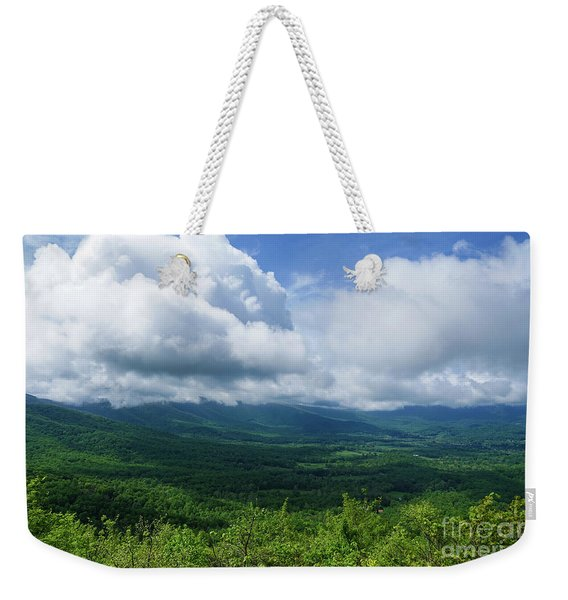 Blue Ridge Mountains Fine Day Weekender Tote Bag