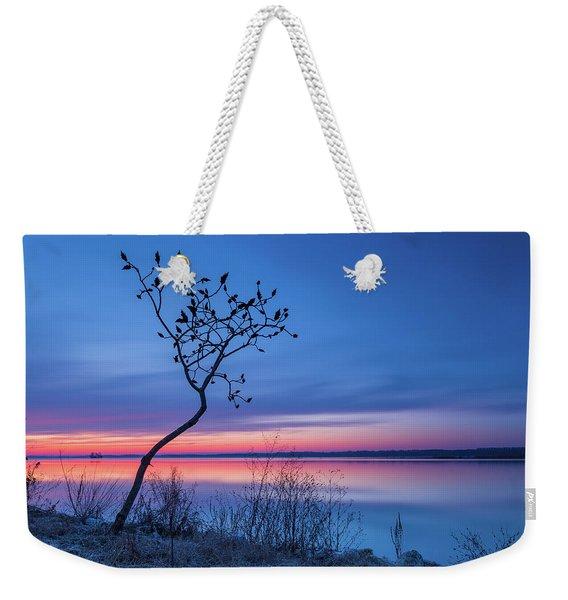 Blue Silence Weekender Tote Bag