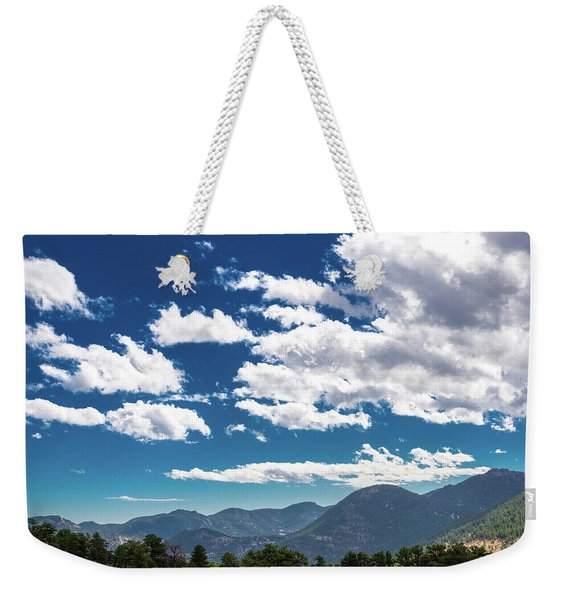Blue Skies And Mountains II Weekender Tote Bag
