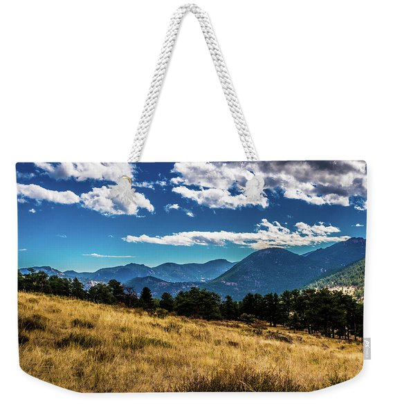 Blue Skies And Mountains Weekender Tote Bag