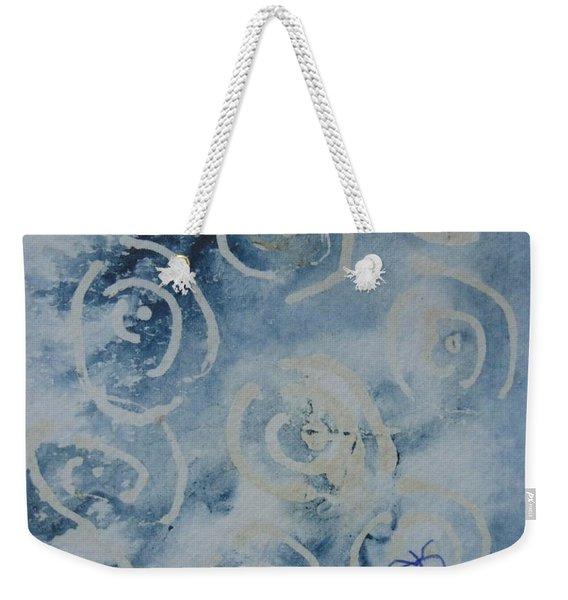 Blue Spirals Weekender Tote Bag