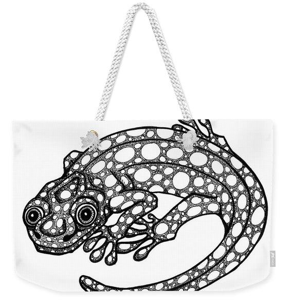 Blue Spotted Salamander Weekender Tote Bag