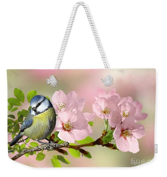 Blue Tit On Apple Blossom Weekender Tote Bag