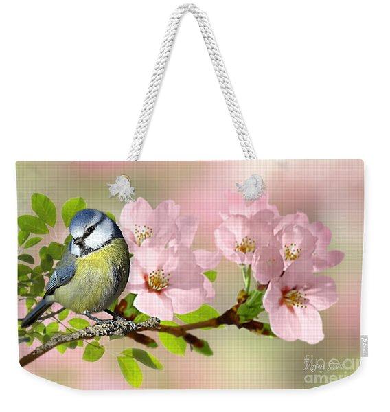 Blue Tit On Apple Blossom Weekender Tote Bag