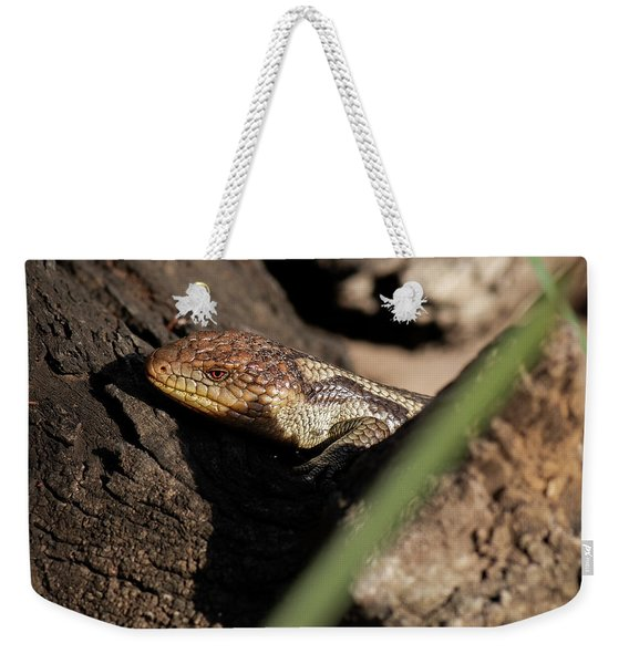 Blue Tongue Lizard Weekender Tote Bag