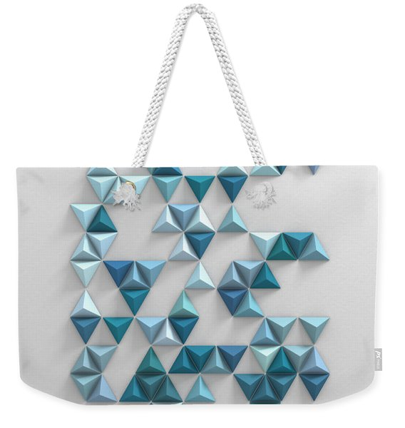 Blue Triangles Weekender Tote Bag