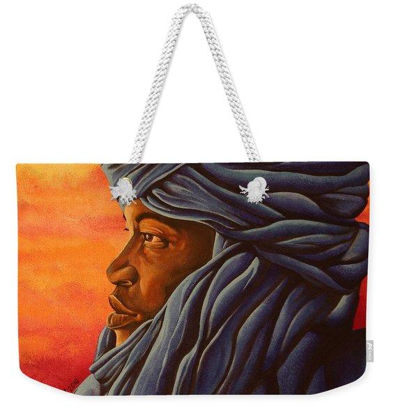 Blue Tuareg Weekender Tote Bag
