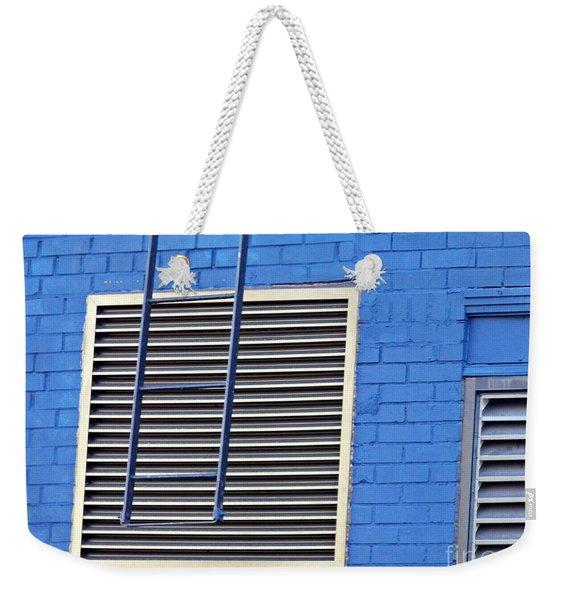 Blue Wall 4 Weekender Tote Bag
