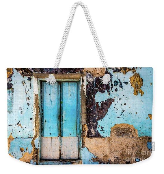 Blue Wall And Door Weekender Tote Bag