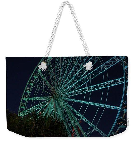 Blue Wheel Weekender Tote Bag