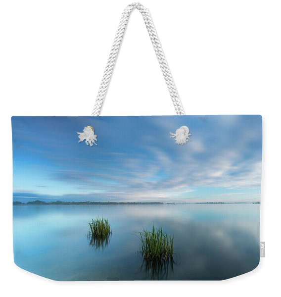 Blue Whirlpool Weekender Tote Bag
