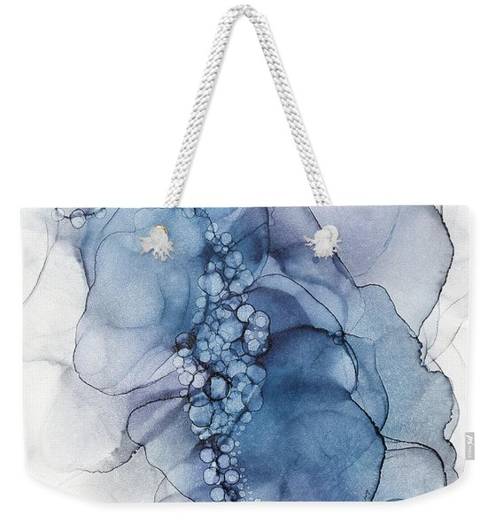 Blue Whispy 2 Abstract Painting Weekender Tote Bag