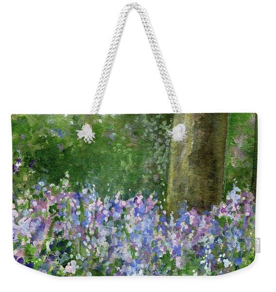 Bluebells Under The Trees Weekender Tote Bag