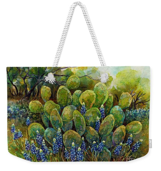 Bluebonnets And Cactus 2 Weekender Tote Bag