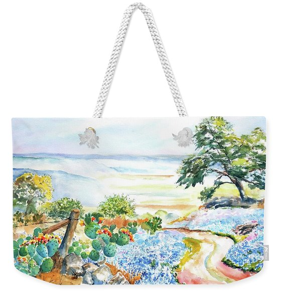 Bluebonnets - Texas Hill Country In Spring Weekender Tote Bag