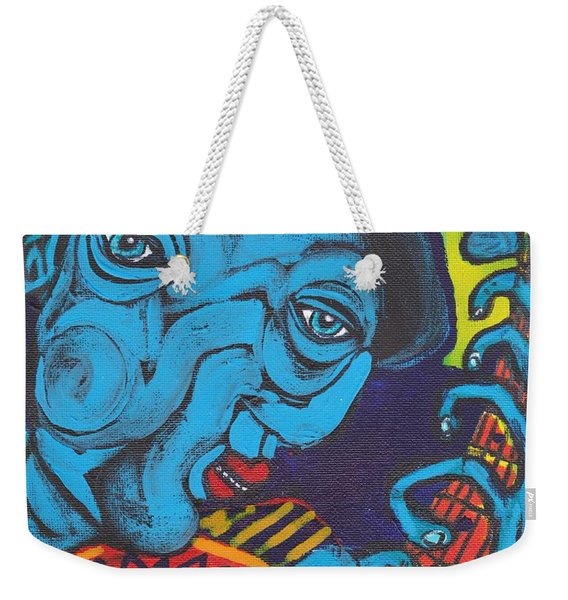 Blues Dude Weekender Tote Bag