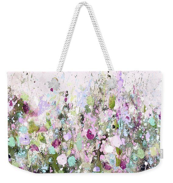 Blush Meadow Weekender Tote Bag