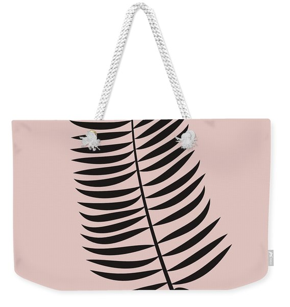Blush Pink Leaf IIi Weekender Tote Bag