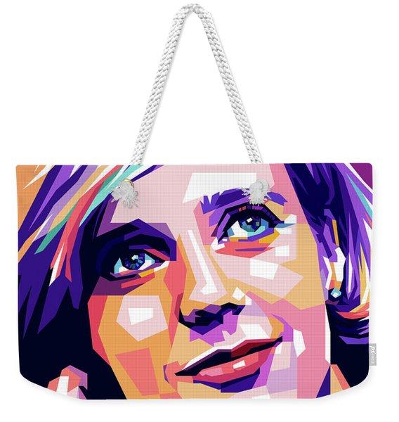 Blythe Danner Pop Art Weekender Tote Bag