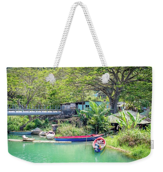 Boat And Rafting Tours Weekender Tote Bag