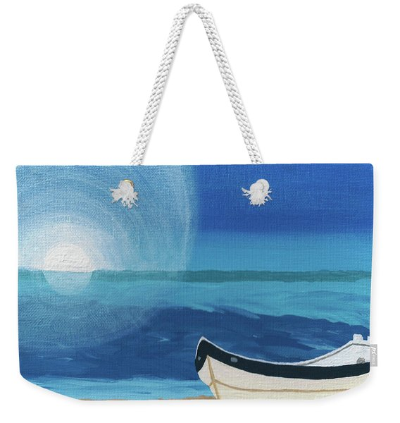 Boat On The Beach Weekender Tote Bag