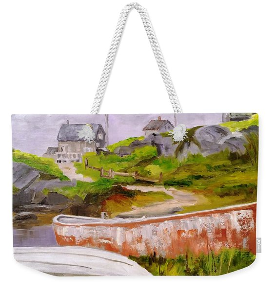 Boats At Peggy's Cove Weekender Tote Bag