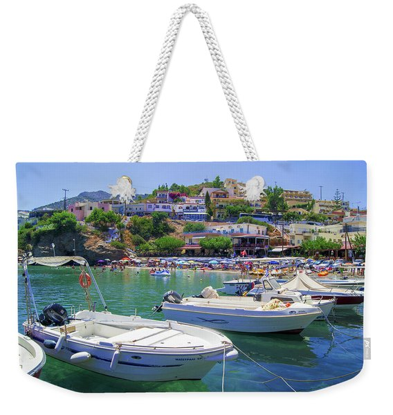 Boats In Bali Weekender Tote Bag