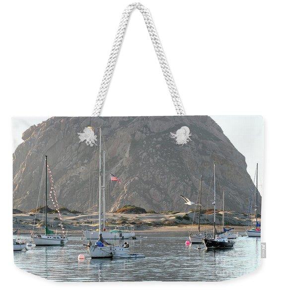 Boats In Morro Bay Weekender Tote Bag