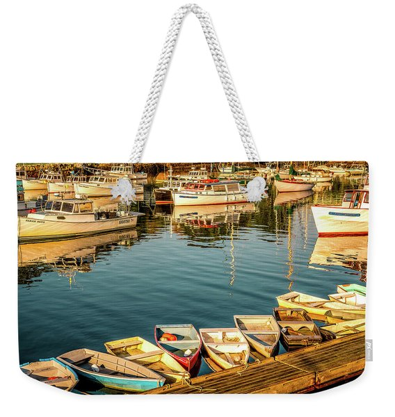Boats In The Cove. Perkins Cove, Maine Weekender Tote Bag