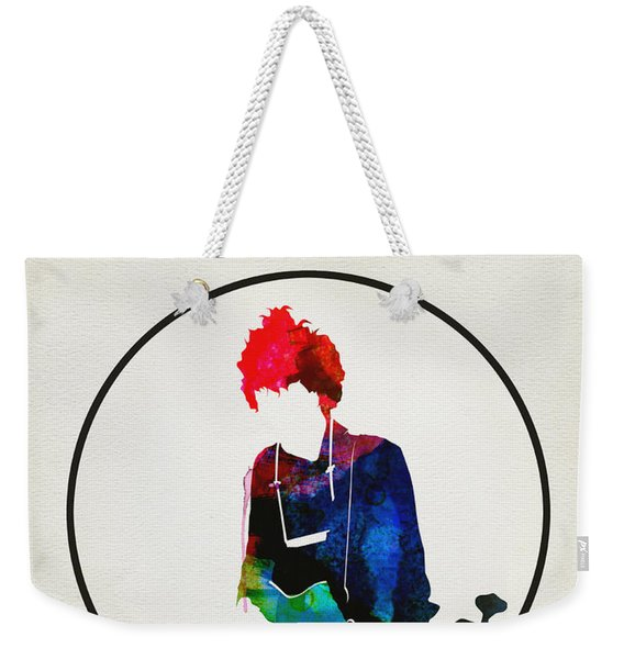 Bob Dylan Watercolor Weekender Tote Bag