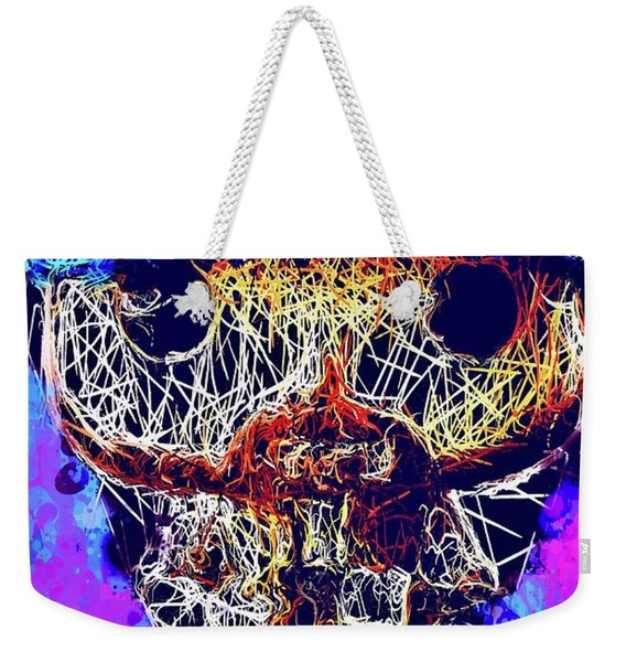 Weekender Tote Bag featuring the mixed media Bobby Supernatural Pop by Al Matra
