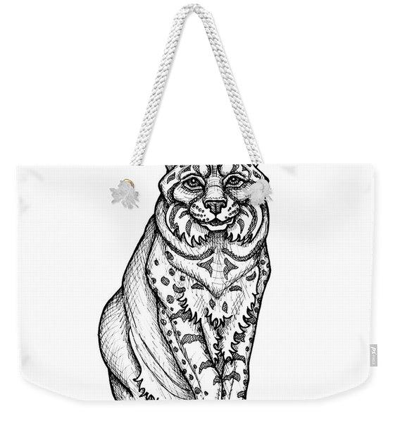 Bobcat Weekender Tote Bag