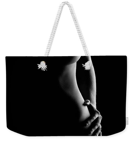 Bodyscape Nude Woman Standing Weekender Tote Bag