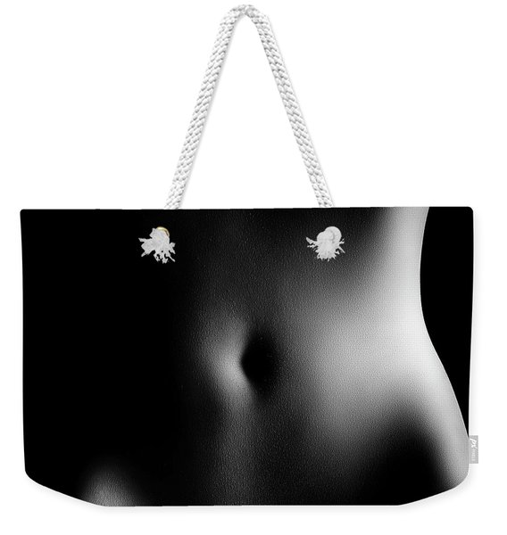 Bodyscape Of Woman's Stomach Weekender Tote Bag