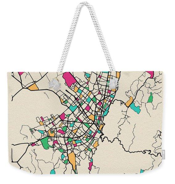 Bogota, Colombia City Map Weekender Tote Bag