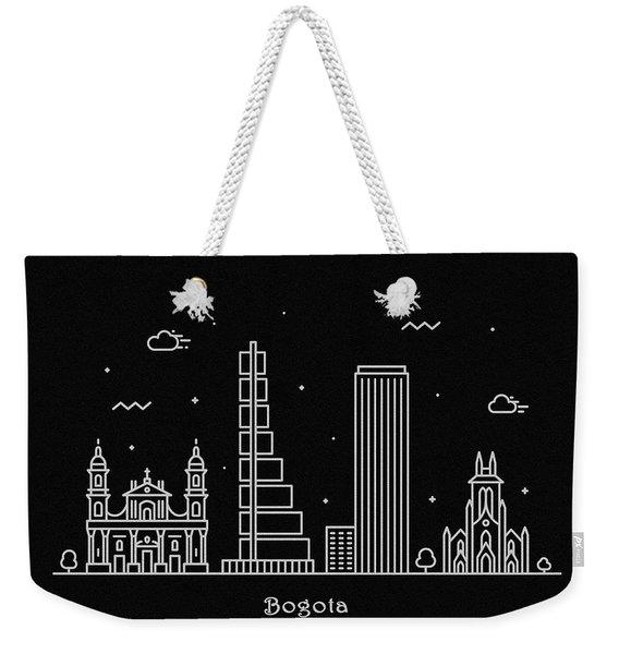 Bogota Skyline Travel Poster Weekender Tote Bag